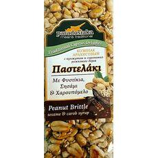 Paradosiaka peanut brittle sesame carob syrup