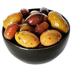 Greek olives with garlic