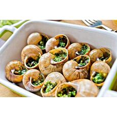 Snails in Garlic Herb Butter in French Style