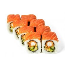Crispy salmon kaburi maki 8 pcs.