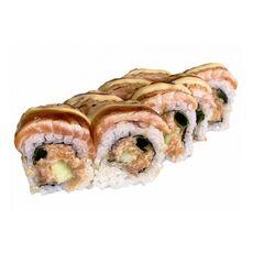 Hot salmon kaburi maki 8 pcs.