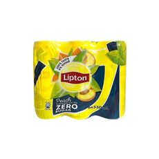 Lipton Ice Tea 6x330ml Peach Zero