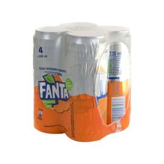 Fanta Zero Orange With Stevia 4x330ml