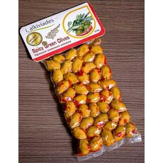 SPICY GREEN OLIVES 250 gr