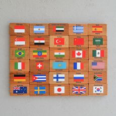 MEMORY GAME FLAGS OF THE WORLD 01
