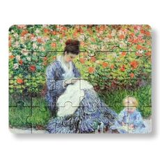 Artist puzzle - camille monet and a child