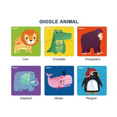 Puzzles Giggle animal