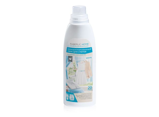 Concentrated gel for washing white fabrics 0+
