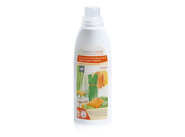 Concentrated gel for washing colored fabrics 0+