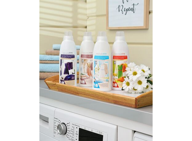 Concentrated gel for washing colored fabrics 0+02