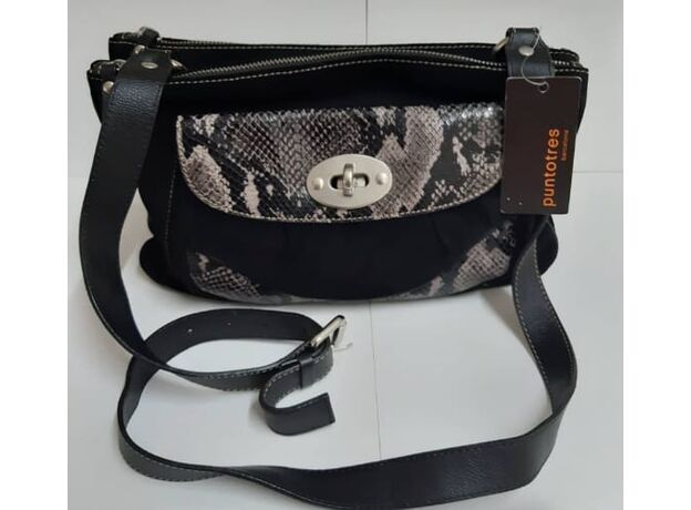 Women's bag suede and leather 01