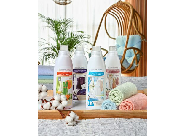 Concentrated gel for washing colored fabrics 0+01
