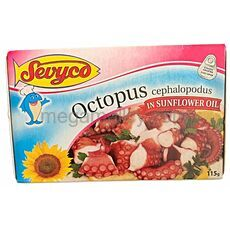 Octopus in sunflower oil 115g